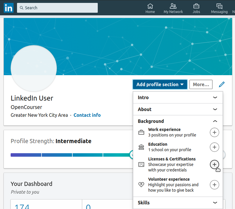 Adding Online Course Certificates To Your Resume Or Linkedin Profile Opencourser